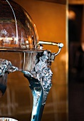 Glosche with ornament of skull face mask in Operakallaren Restaurant, Stockholm, Sweden