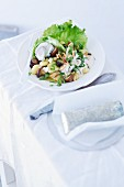 Gnocchi salad with mushrooms, endives and a rocket dressing