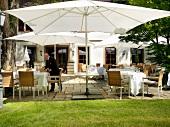 Terrace of the gourmet restaurants Friedrich