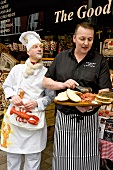 Two chefs at Belfast Bred Food Tour in Belfast, Northern Ireland