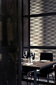 Interior with shimmer in Dabbous restaurant at London