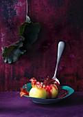 Velvet dumplings with beetroot relish