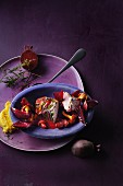 Venison fillet with beetroot, chanterelle mushrooms and polenta