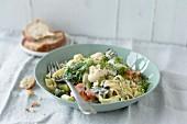 Tagliatelle with broccoli and cauliflower