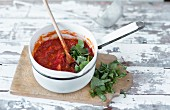Classic tomato sauce with basil