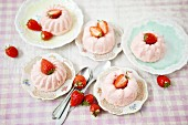 Mini strawberry parfait Bundt cakes