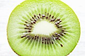 Slice of kiwi fruit (overhead view)