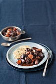 Venison ragout with napkin dumplings