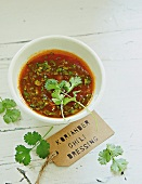 Chilli dressing with coriander