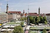 Deutschland, München, Blick auf Viktualienmarkt