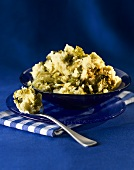 Rumble Thumbs (mashed potato with green cabbage, England)