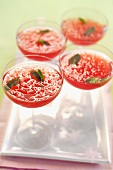 Campari Coolers with lemon balm