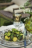 Courgettes with herbs and cheese