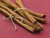A bundle of cinnamon sticks