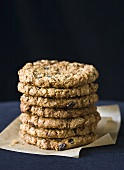 Stack of Oatmeal Raisin Cookies