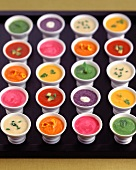 Assortment of Soups in Small Cups
