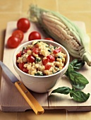 Corn and Tomato Dip; Tomatoes and Corn on the Cob