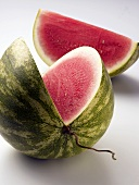 Watermelon showing a cut surface