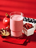 A berry and pomegranate smoothie