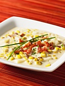 Lobster and corn soup