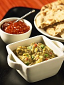 Beef curry with naan bread