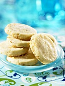 Shortbread biscuits on a small plate