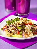 Glass noodle salad with peanuts and vegetables