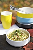 Linguine with herbs and chilli