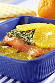 Oven baked orange salmon