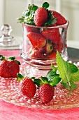 Fresh Strawberries in an Apothecary Jar