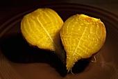 Roasted Organic Golden Beet Cut in Half
