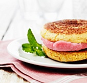 Raspberry Sorbet and Snickerdoodle Sandwich