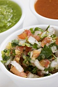 Pico de Gallo; Red and Green Salsas
