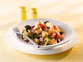 A fruit and vegetable salad