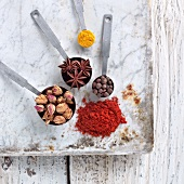 Ras el Hanout (Spice Mix) with Some of the Spices Found In It
