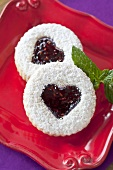 Jam Filled Heart Cookie