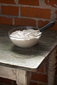 Meringue in a Bowl with Whisk