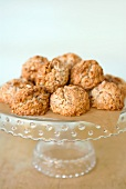 Coconut Almond Macaroons on a Pedestal Dish