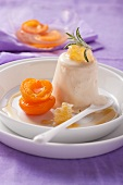 Honey parfait with rosemary and apricots