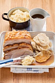 Czech roast pork with sauerkraut and napkin dumplings