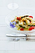 Asparagus salad with cherry tomatoes