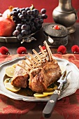 Medieval style saddle of lamb