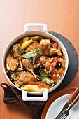 Provence style braised chicken with vegetables