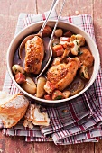 Beer braised chicken
