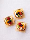 Three fruit tartlets