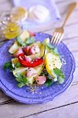 Oriental onion and potato salad
