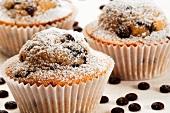 Chocolate chip muffins (close-up)