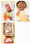 Lasagne al forno being prepared