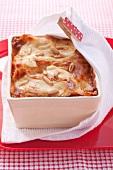 Squash lasagne with veal and mozzarella