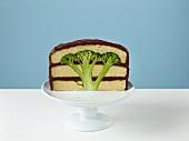Half of a Broccoli Cake